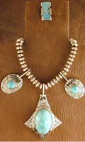 SS & Cripple Creek Turquoise Set - NECKLACE
