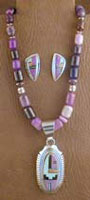 SS & Charoite Set - NECKLACE