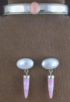 SS Rhodochrosite and Mother of Pearl Set - BRACELET