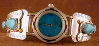 Effie Woman's Watch with band of  Turquoise with Turquoise eyes