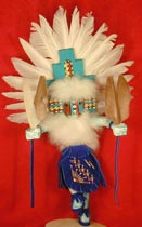 "Navajo 10"" Tribal White Hemis Kachina"