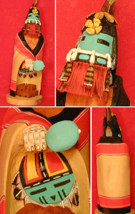 Hopi Red Bearded Kachina (Katsina)