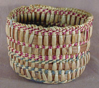 Hand Woven Purple and Gray Open Basket