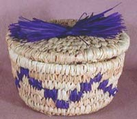 Hand Woven Raffina Covered Coil Basket