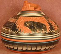 Navajo Black Bear Pot