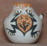 Zuni Mini Lizard & Toad Pot